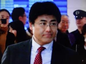 ようやく帰国できた産経新聞前ソウル支局長の加藤氏(NHKテレビから)