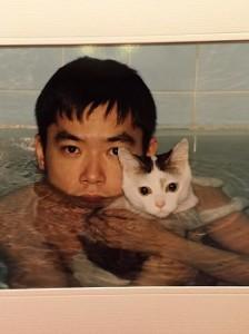 親子そのものの入浴風景