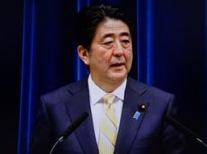 安倍首相の会見は説得力に欠けると見る向きは少なくない(NHKテレビから)